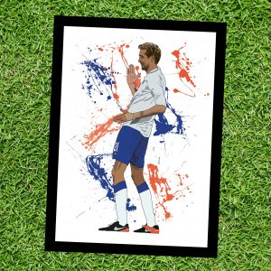 Crouchy Robot - Inspired by Peter Crouch - on Grass - Wall Art Print - MaadWeb
