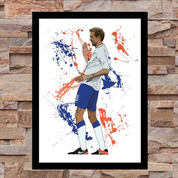 Crouchy Robot - Inspired by Peter Crouch - on Wall - Wall Art Print - MaadWeb