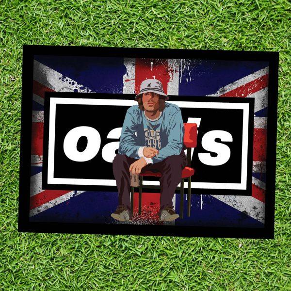 Liam Gallagher Oasis Wall Art Print - on Grass - Landscape - MaadWeb