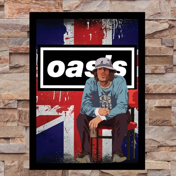 Liam Gallagher Oasis Wall Art Print - on Wall - Portrait - MaadWeb