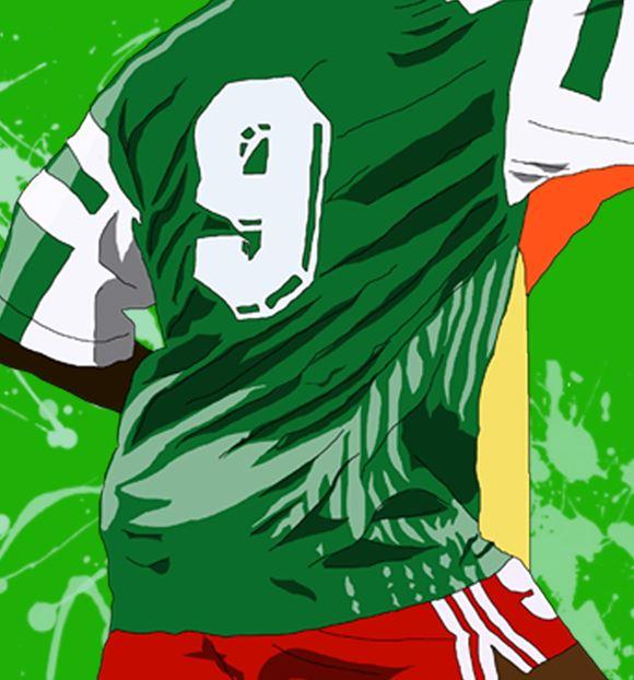 Inspired by Roger Milla - Cameroon - World Cup Heroes - Wall Art Print - Close-Up - MaadWeb