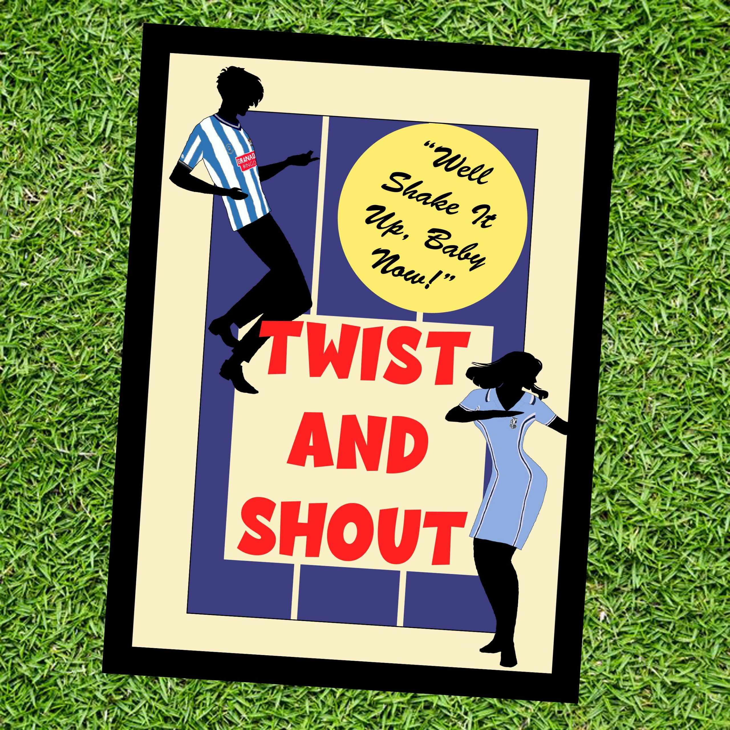 Twist and Shout Wall Art Print - on Grass - Coventry City CCFC - MaadWeb