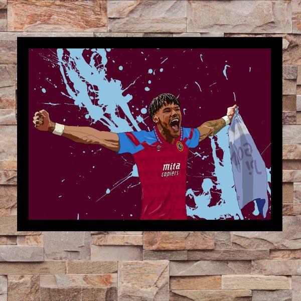 Tyrone Mings Wall Art Print - On Wall - Aston Villa AVFC - MaadWeb