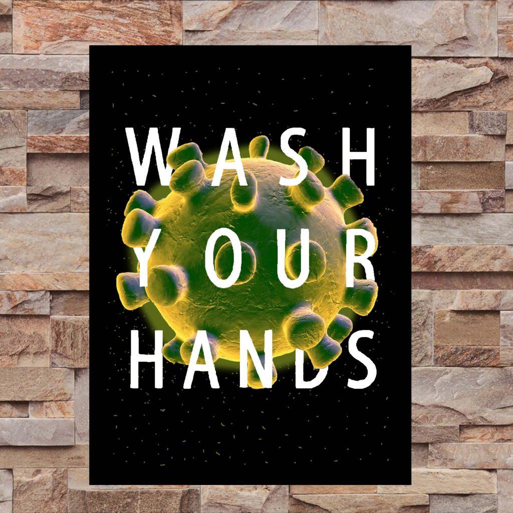 Wash Your Hands Wall Art Print - On Wall - MaadWeb