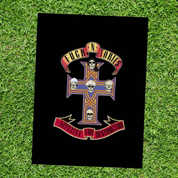 Appetite for Destruction - Inspired by the Tories - Wall Art Print - on Wall - MaadWeb