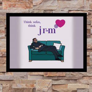 Think Sofas, Think JR-M JRM - Inspired by Jacob Rees-Mogg - Wall Art Print - on Wall - MaadWeb