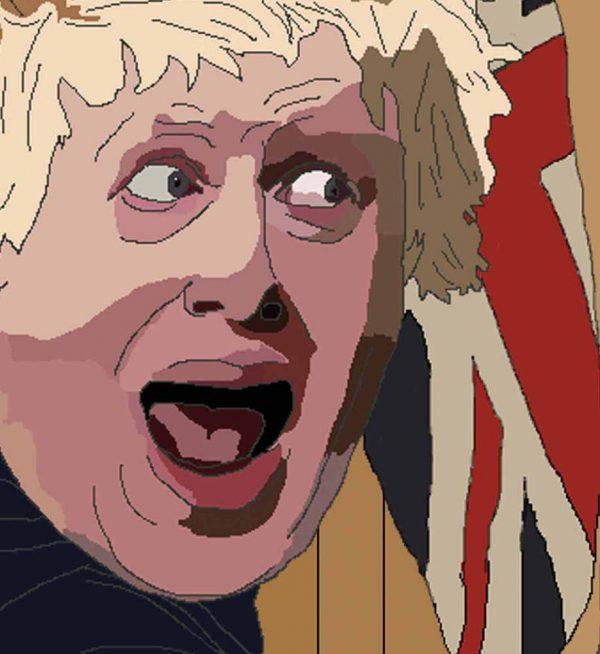 Boris Johnson playing Lemmings - Wall Art Print - Close-up - MaadWeb