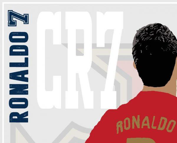 Cristiano Ronaldo - CR7 - Part of MaadWeb's Euro 2020 Series - Wall Art Print - Close-Up - MaadWeb