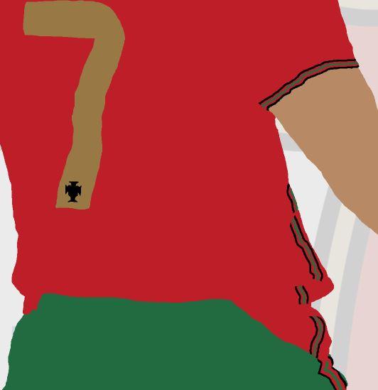 Cristiano Ronaldo - CR7 - Part of MaadWeb's Euro 2020 Series - Wall Art Print - Close-Up Detail - MaadWeb