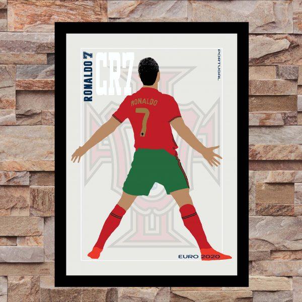 Cristiano Ronaldo - CR7 - Part of MaadWeb's Euro 2020 Series - Wall Art Print - On Wall - MaadWeb