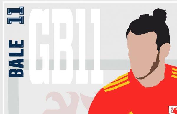 Gareth Bale - GB11 - Part of MaadWeb's Euro 2020 Series - Wall Art Print - Close-Up - MaadWeb