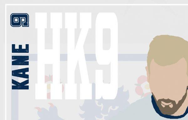 Harry Kane - HK9 - Part of MaadWeb's Euro 2020 Series - Wall Art Print - Close-up Face - MaadWeb