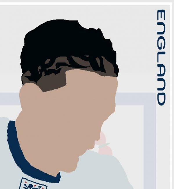 Jack Grealish - JG7 - Part of MaadWeb's Euro 2020 Series - Wall Art Print - Close-up Face - MaadWeb