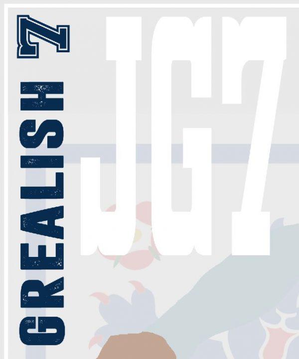 Jack Grealish - JG7 - Part of MaadWeb's Euro 2020 Series - Wall Art Print - Close-up Text - MaadWeb