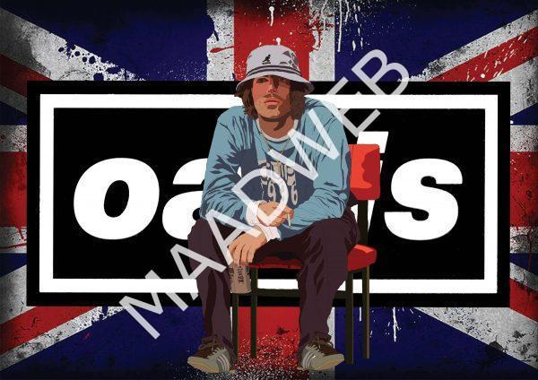 Liam Gallagher Oasis Wall Art Print - Full size - Landscape - MaadWeb