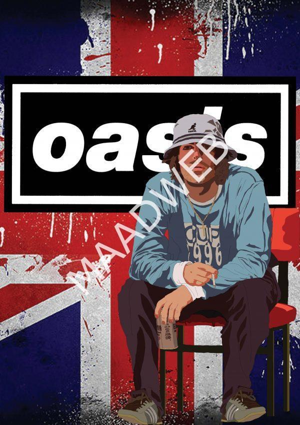 Liam Gallagher Oasis Wall Art Print - Full size - Portrait - MaadWeb