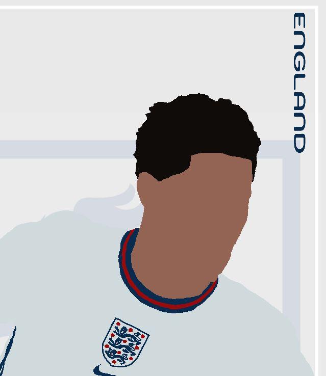 Marcus Rashford - MR11 - Part of MaadWeb's Euro 2020 Series - Wall Art Print - Close-Up Detail - MaadWeb