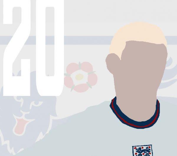 Phil Foden - PF20 - Part of MaadWeb's Euro 2020 Series - Wall Art Print - Close-up - MaadWeb