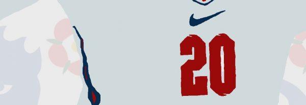 Phil Foden - PF20 - Part of MaadWeb's Euro 2020 Series - Wall Art Print - Close-up Number - MaadWeb