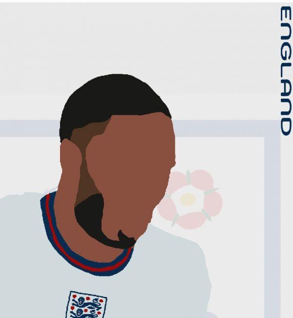 Raheem Sterling - RS10 - Part of MaadWeb's Euro 2020 Series - Wall Art Print - Close-up Detail - MaadWeb