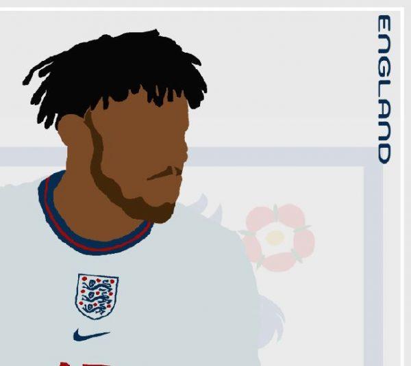 Tyrone Mings - TM15 - Part of MaadWeb's Euro 2020 Series - Wall Art Print - Close-up Detail - MaadWeb