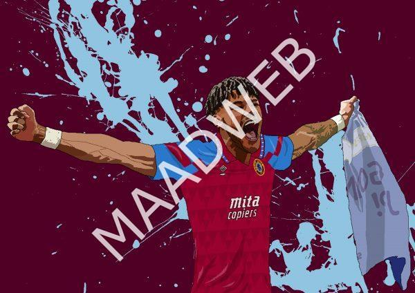 Tyrone Mings Wall Art Print - Full Size - Aston Villa AVFC - MaadWeb