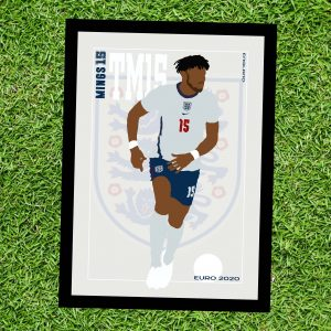 Tyrone Mings - TM15 - Part of MaadWeb's Euro 2020 Series - Wall Art Print - On Grass - MaadWeb