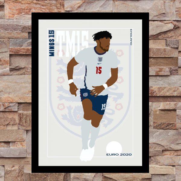 Tyrone Mings - TM15 - Part of MaadWeb's Euro 2020 Series - Wall Art Print - on Wall - MaadWeb