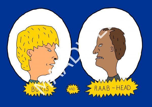 Boris and Raab-Head - Inspitred by Boris Johnson and Dominic Raab - Wall Art Print- full size - MaadWeb