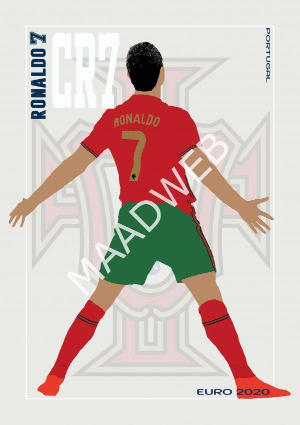 Cristiano Ronaldo - CR7 - Part of MaadWeb's Euro 2020 Series - Wall Art Print - Full Size - MaadWeb