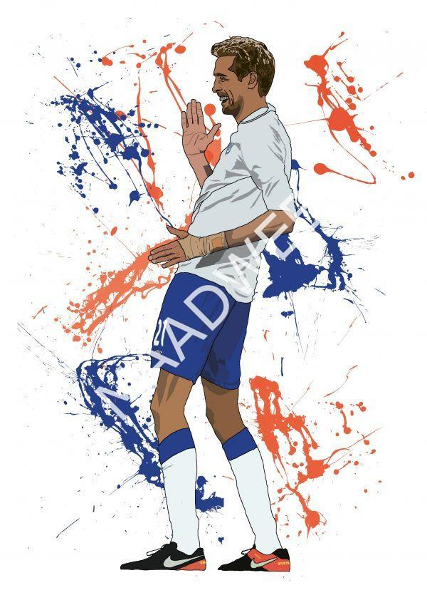 Crouchy Robot - Inspired by Peter Crouch - full size - Wall Art Print - MaadWeb