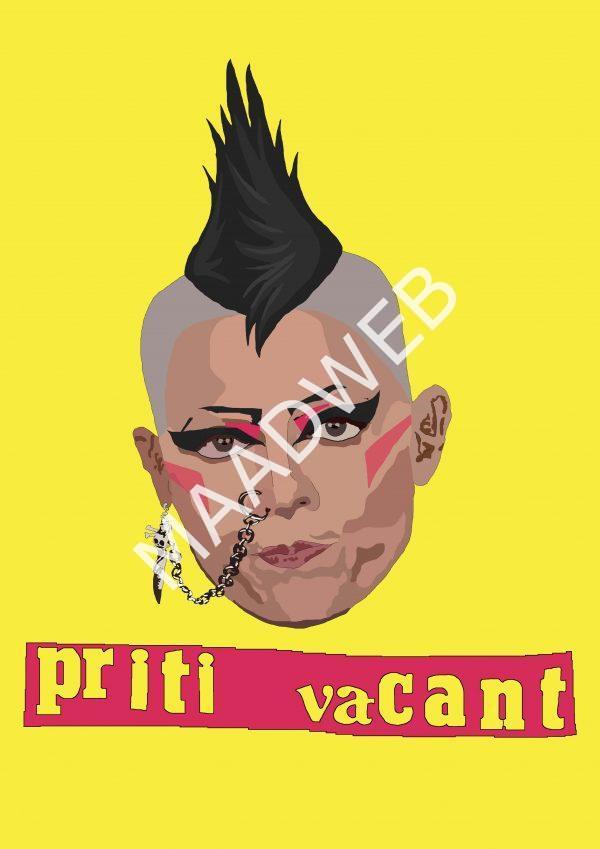 Priti Vacant - Inspired by Priti Patel - Wall Art Print - full size - MaadWeb
