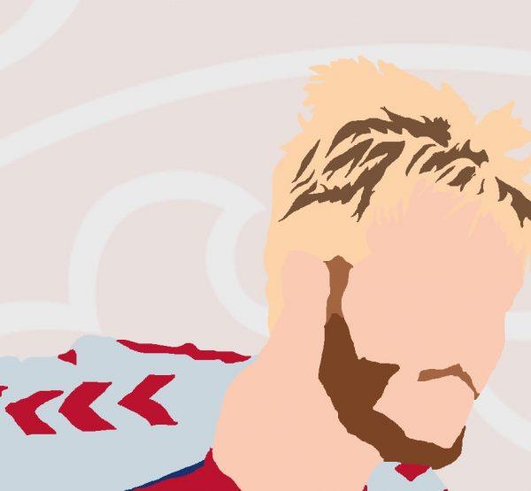 Simon Kjaer - SK4 - Part of MaadWeb's Euro 2020 Series - Wall Art Print - Close-Up Face - MaadWeb