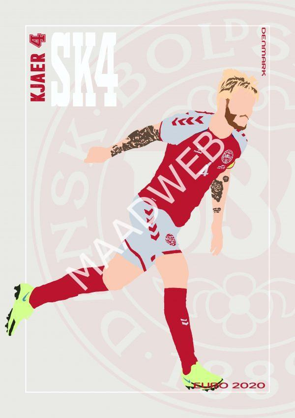 Simon Kjaer - SK4 - Part of MaadWeb's Euro 2020 Series - Wall Art Print - Full Size - MaadWeb