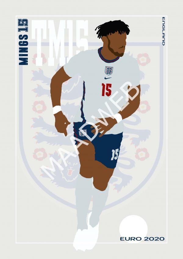 Tyrone Mings - TM15 - Part of MaadWeb's Euro 2020 Series - Wall Art Print - Full Size - MaadWeb
